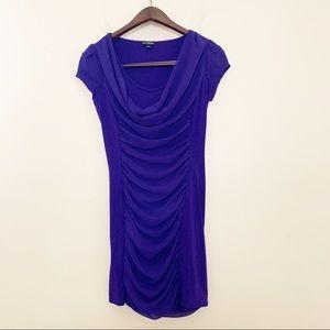 Express Drape Neck Purple Dress Size XS